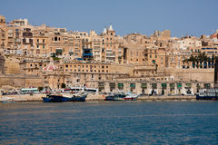 Valletta, Malta. Overview from Sliema Royalty Free Stock Image