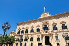 Valletta, Malta. Auberge de Castille in Valletta, Malta - office of the Prime Minister of Malta Royalty Free Stock Photography