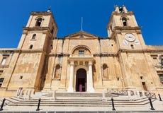 Valletta, Malta. St. John's Co-Cathedral in Valletta, Malta Royalty Free Stock Photos
