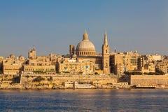 Valletta, Malta. Skyline of the Maltese capital city Valletta in warm, late afternoon light Royalty Free Stock Photos