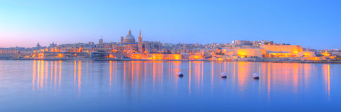 Valletta, Malta. Valletta, the capital of Malta in early morning Stock Photos