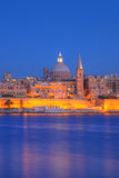 Valletta, Malta. View of Valletta with Our Lady of Mount Carmel church dome, Malta Royalty Free Stock Photo