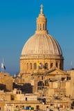 Valletta, Malta. The Dome of the Carmelite Church in Valletta, Malta Stock Photo