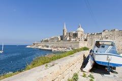 Valletta Malta Fotografering för Bildbyråer