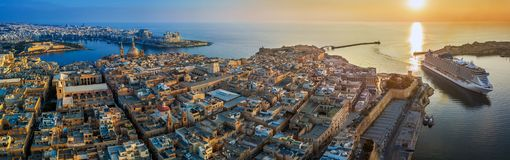 Valletta, Malta - Aerial panoramic view of Valletta with Mount CValletta, Malta - Aerial panoramic view of Valletta with Mount Car. Valletta, Malta - Aerial stock photos