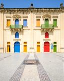Colorful building in maltese village Royalty Free Stock Photo