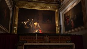 VALLETTA - MALTA, April, 2018: Interior of St John`s Co-Cathedral - Valletta, Malta. VALLETTA - MALTA, April, 2018: Interior of St John`s Co-Cathedral stock video