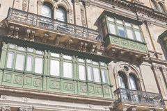 VALLETTA -MALTA - APRIL 13, 2016: Traditional Maltese architect Stock Photography