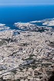 Valletta in Malta as seen from the air. Stock Photography