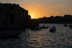 Sunset in Valletta, Malta Royalty Free Stock Photography