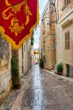 Streets of Valletta during a religious feast. VALLETTA, MALTA - AUGUST 23, 2017: The Feast of St. Dominic is celebrated in the town of Vittoriosa Birgu in Malta Stock Photography