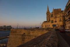 Sunset in Valletta, Malta Stock Photo