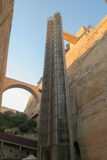 Valletta Malta Barrakka elevator från storslagen hamn till övreBarrakka trädgårdar arkivbild