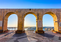 Valletta, Malta - Beautiful summer morning view from Valletta Royalty Free Stock Images