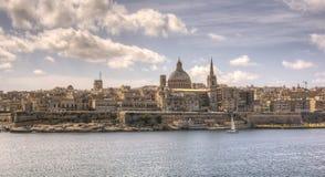 Valletta Malta. Valletta capital of malta taken from sliema Royalty Free Stock Image
