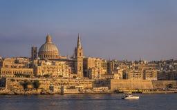 Valletta, Malta - a catedral bonita do ` s de StPaul Fotografia de Stock Royalty Free