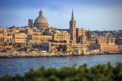 Valletta, Malta - a catedral famosa do ` s de StPaul em Valletta imagens de stock royalty free