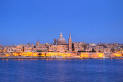Valletta, Malta. The city of Valletta, Malta at dusk Royalty Free Stock Photography