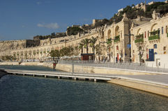 VALLETTA/MALTA - Der großartige Hafen Lizenzfreies Stockfoto