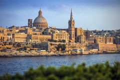 Valletta, Malta - die berühmte StPaul-` s Kathedrale in Valletta lizenzfreie stockbilder