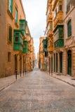 Valletta, Malta - die traditionellen Häuser lizenzfreies stockfoto