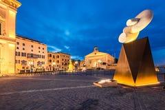 Valletta in Malta, European Culture Capital. Evening street art view Stock Photos
