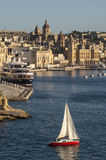 VALLETTA/MALTA  The Grand Harbour Stock Photography