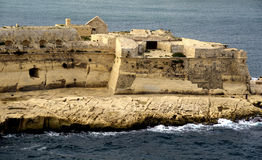 Valletta,Malta harbor with fortress. Fortress in harbor in Valletta,Malta Royalty Free Stock Photos