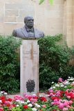 Valletta, Malta, July 2014. Monument to the Rt.Hononrable sir Winston Spencer Churchill.K.C. The People of Malta and Gozo. stock photography