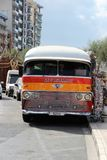 Valletta, Malta, July 2014. Old multicolored traditional famous Maltese bus stock photo