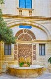The Bird Fountain of Grandmaster`s Place, Valletta, Malta. VALLETTA, MALTA - JUNE 17, 2018: The Prince Alfred`s Courtyard of Grandmaster`s Palace boasts scenic Stock Photography