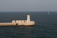 Valletta, Malta Lighthouse Royalty Free Stock Photography