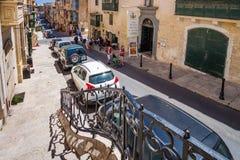 Valletta, Malta - 5. Mai 2016: Von den Straßen und von den Gassen von V Lizenzfreies Stockbild