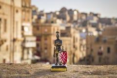 Valletta, Malta - Maltese knight in the ancient city of Valletta Royalty Free Stock Image