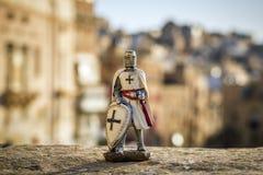Valletta, Malta - Maltese knight in the ancient city of Valletta Stock Photos
