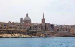 Valletta Malta 2013. Valletta and Marsamxett Harbour, Malta Royalty Free Stock Image