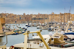 Valletta, Malta - May 07, 2017: In bay The Grand Harbor. IValletta, Malta - May 07, 2017: In bay The Grand Harbor Tricity of Valletta, Birgu and Senglea on the Royalty Free Stock Images