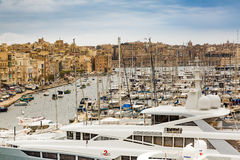 Valletta, Malta - May 07, 2017: In bay The Grand Harbor Royalty Free Stock Images