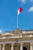 Valletta, Malta - May 9, 2017: Flag at St George's Square Misrah San Gorg. Royalty Free Stock Image