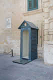 Valletta, Malta - May 9, 2017: Guard booth at the entrance of the Palace Armoury. Stock Image