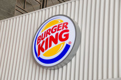 Valletta, Malta - May 9, 2017: Logo of Burger King. Valletta, Malta - May 9, 2017: Logo of Burger King Royalty Free Stock Image