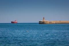 Valletta, Malta - May 05, 2016:  Ricasoli East Breakwater Royalty Free Stock Photos