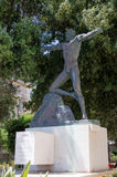 Valletta, Malta - May 9, 2017: The sculpture of Enea  in Lower Barrakka Gardens in Valletta. The sculpture of Enea in Lower Barrakka Gardens in Valletta Royalty Free Stock Photography