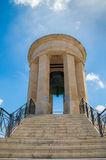 Valletta, Malta - May 9, 2017: The Siege Bell War Memorial designed by Michael Sandle and erected in 1992. Royalty Free Stock Photos