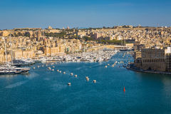Valletta, Malta - May 05, 2016: View of the port Tricity Senglea Royalty Free Stock Image