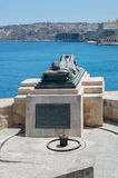 Valletta, Malta - May 9, 2017: War Siege Memorial next to Siege Bell War Memorial. Stock Photography