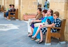 Valletta Malta, Oktober 14, 2017: Stående av en attraktiv ele Arkivfoto