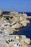 Valletta,Malta. Panoramic view at the fishermen's houses in Valletta,Malta Stock Image