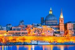 Valletta, Malta, porto de Marsans foto de stock royalty free