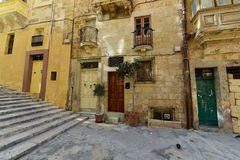Valletta Malta residential area. Valletta Malta downtown residential area view Royalty Free Stock Images